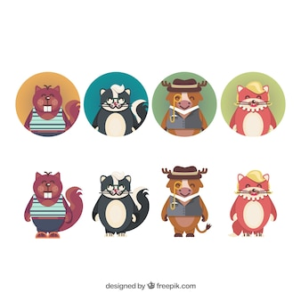 Personnages animaux mignons