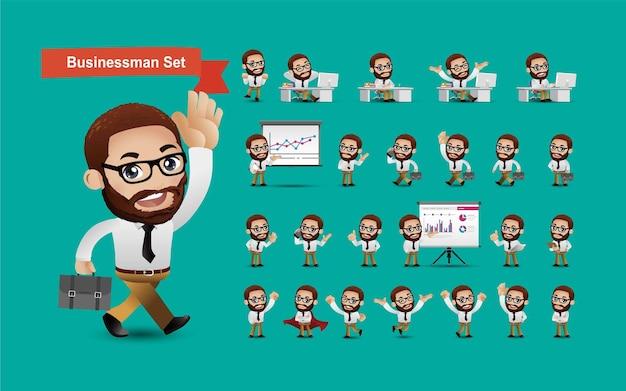 Personnages d'avatars de groupe de gens d'affaires