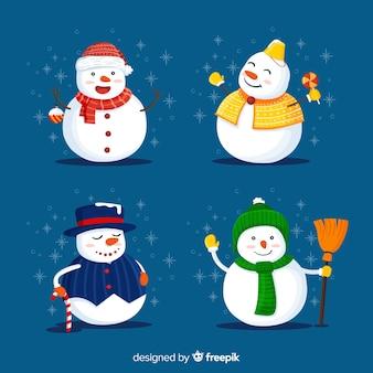 Personnages bonhomme de neige