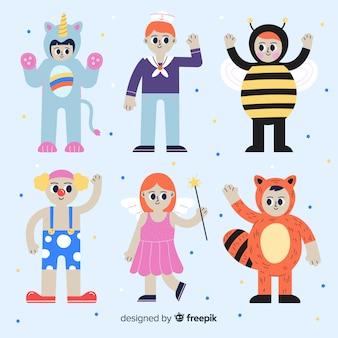 Personnages de carnaval en costumes