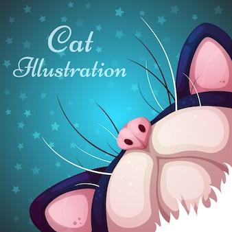 Personnages de chat de dessin animé