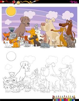 Personnages de chats et de chiens
