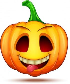 Personnages citrouilles drôles, drôles et fous. émoticônes halloween