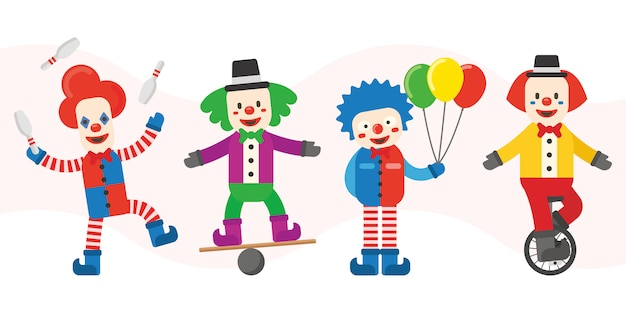 Personnages de clown