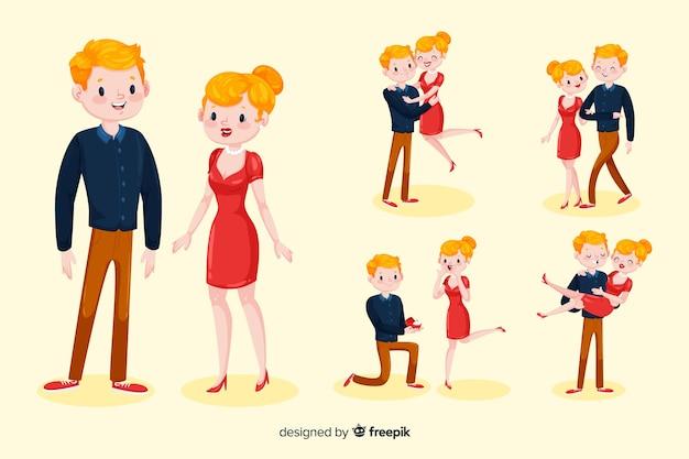 Personnages de couples 3d