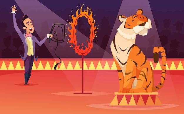 Personnages de dessin animé de cirque.