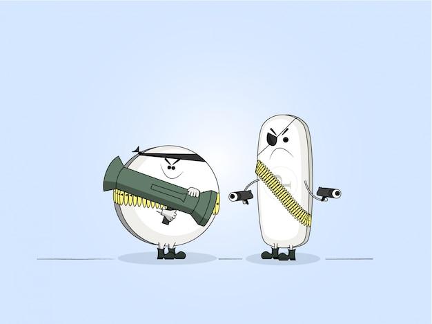 Personnages de dessin animé pain killers