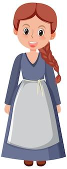 Personnages de dessins animés historiques médiévaux féminins