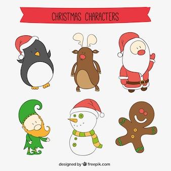 Personnages de dessins animés de noël