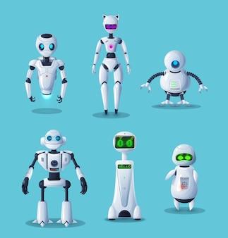 Personnages de dessins animés de robots modernes