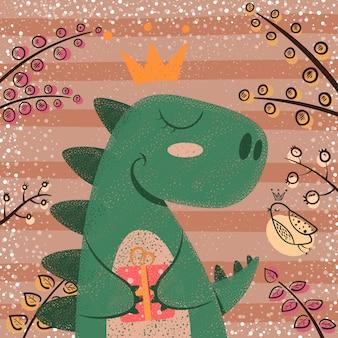 Personnages de dinosaures mignons