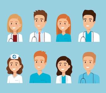 Personnages du personnel médical