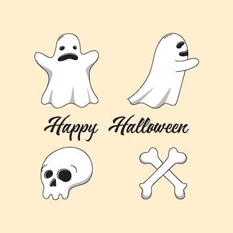 Personnages fantômes halloween