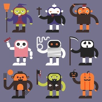 Personnages d'halloween