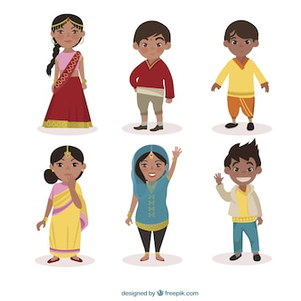Personnages indiens emballer