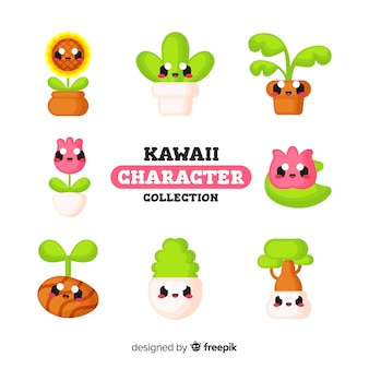 Personnages kawaii mignons