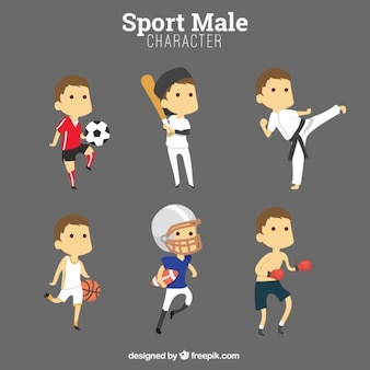 Personnages masculins sport