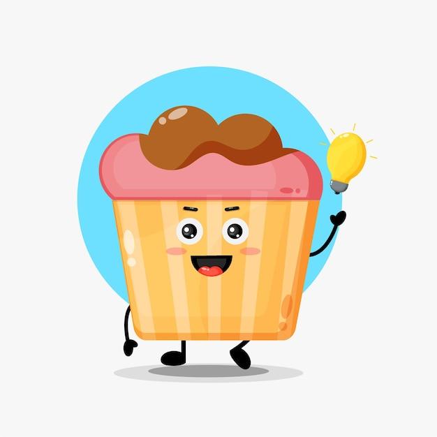 Personnages de muffins mignons avec des idées d'ampoules