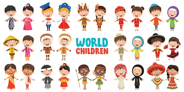 Personnages multiculturels du monde