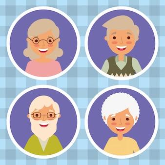 Personnages personnages grands-parents