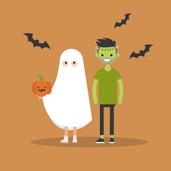 Les personnages portent des costumes de fête pour halloween