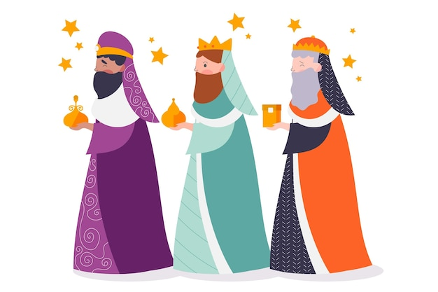 Personnages traditionnels de reyes magos