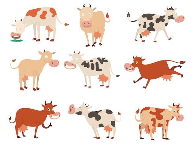 Personnages de vaches de dessin animé