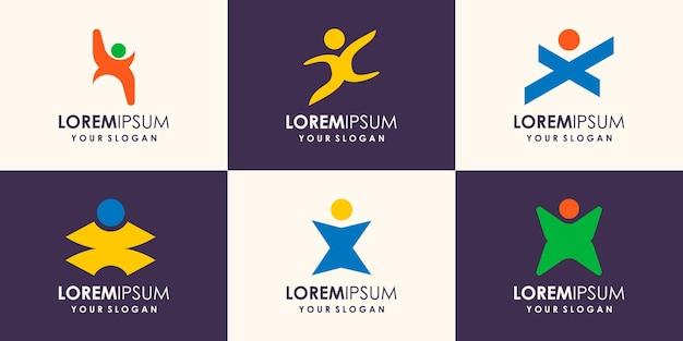 Personne abstraite du concept de design élégant pour le logo associé aux gens d'affaires