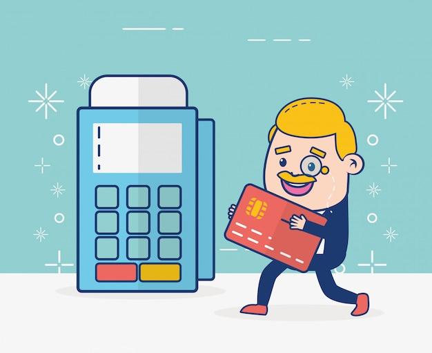Personne de banque en ligne