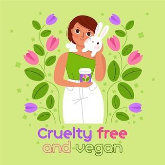 Personne étreignant la cruauté envers les animaux dessinés à la main