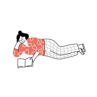 La personne lit un livre ou un étudiant étudie et se prépare à un examen lecteurs amateurs de livres