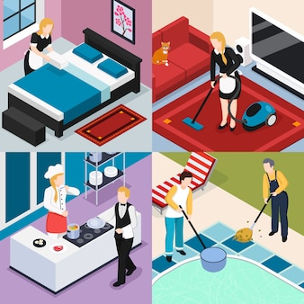 Personnel à domicile 2x2