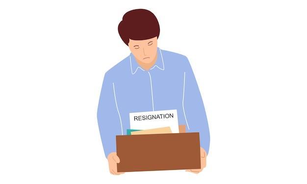 Le personnel masculin démissionne du bureau