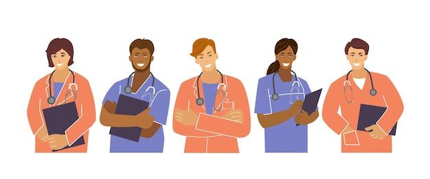 Le personnel médical est une équipe de cinq personnes