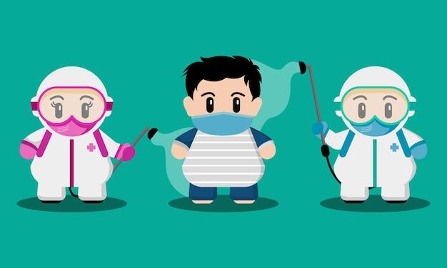 Le personnel médical mignon est la stérilisation