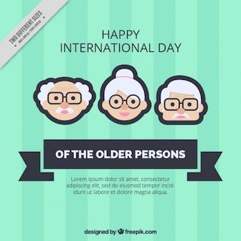 Les personnes âgées day background en couleur verte