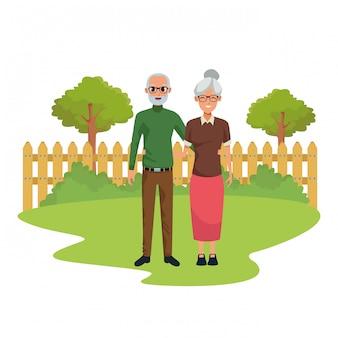 Personnes âgées souriantes et heureuses