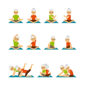 Personnes âgées yoga