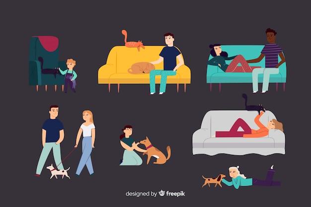 Personnes avec des animaux domestiques