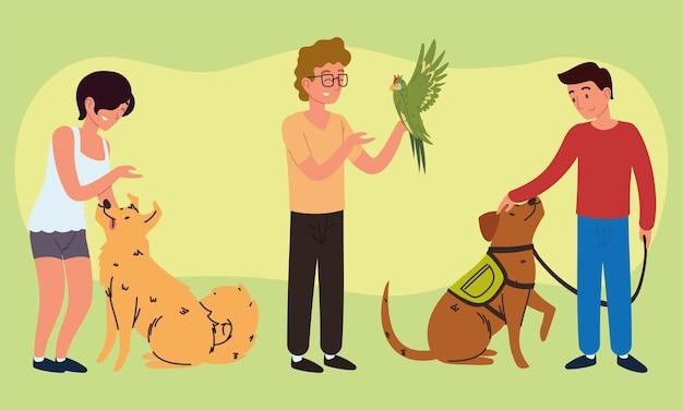 Les personnes avec des animaux