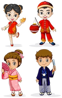 Les personnes asiatiques