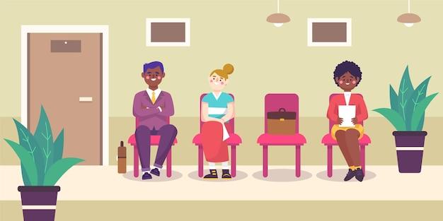 Personnes en attente d'entrevue d'emploi