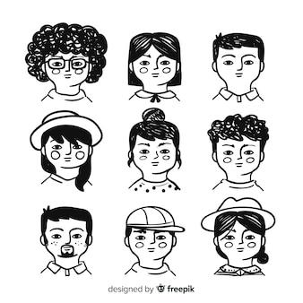 Personnes avatar collectio