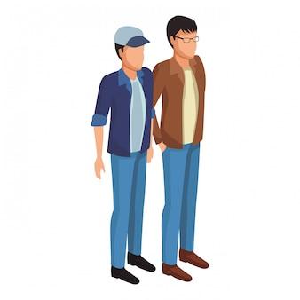 Personnes avatar isométrique