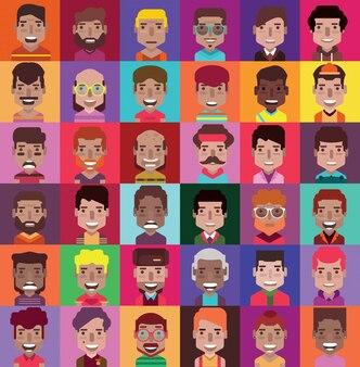 Personnes avatar set. homme femme