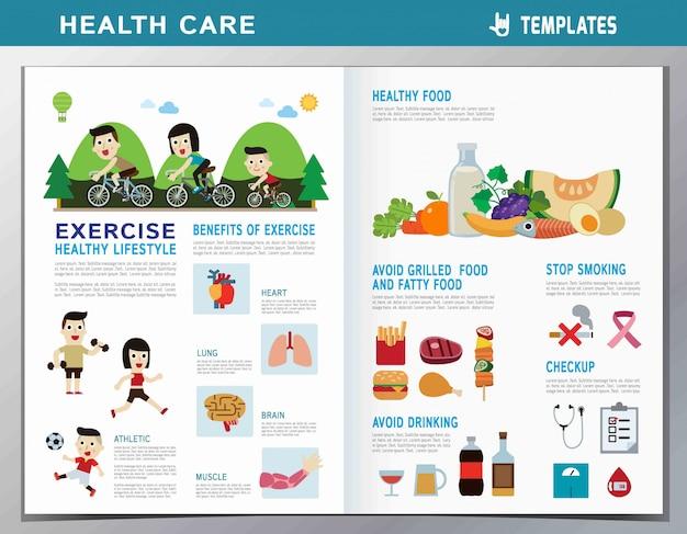 Personnes en bonne santé. illustration de conception de dessin animé mignon plat.
