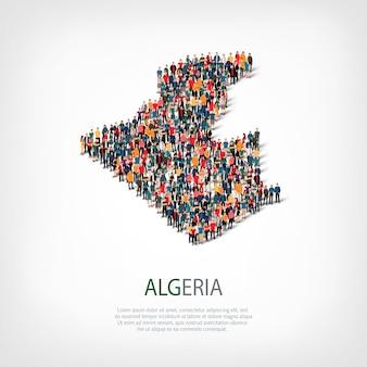 Personnes carte pays algérie
