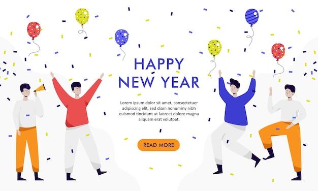 Personnes célébrant la fête du nouvel an