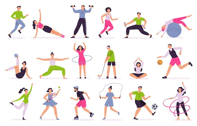Les personnes effectuant des activités sportives.