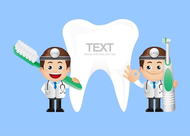 Personnes ensemble profession dentiste
